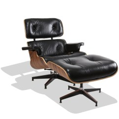 Fake Eames Chair Lawn Chairs At Target Replica Lounge Thailand Nathan Rhodes Design Co Ltd Style Black Leather Walnut Frame