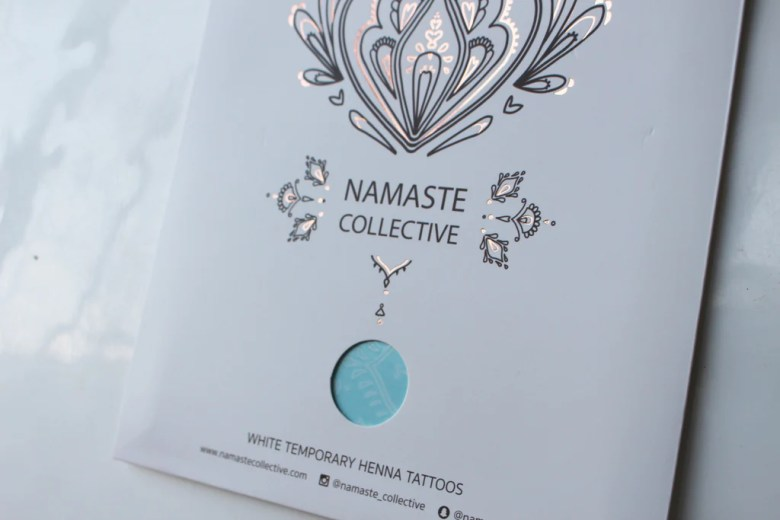 White Henna Flash Tattoo - Namaste Collective - 3