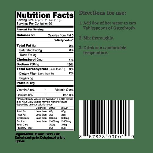 Osteobroth Premium Chicken Bone Broth (20 servings)