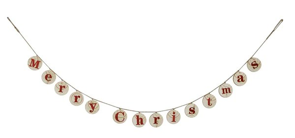 wooden merry christmas banner