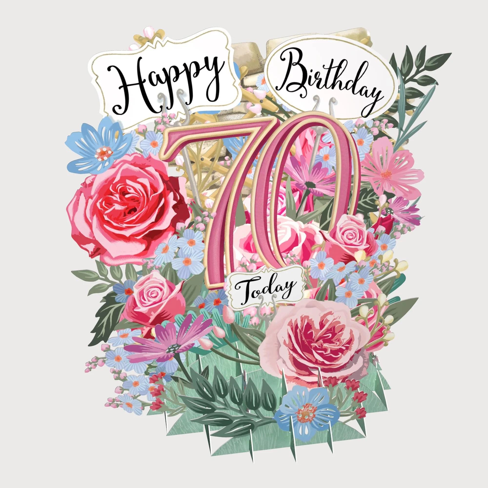 70th birthday flowers top