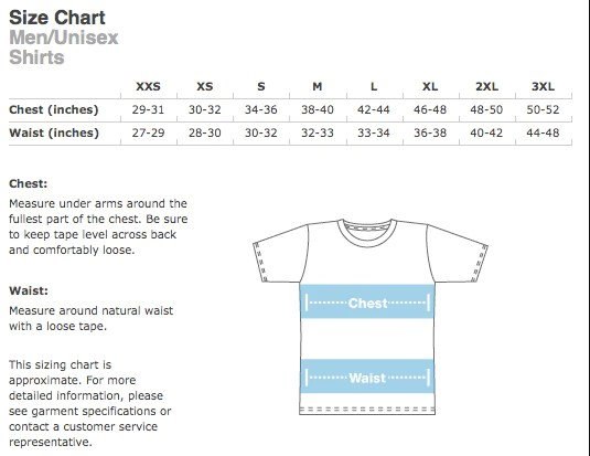 Currently we offer infant sizes newborn onesie month and  shirts youth recommend either the exact also size charts rh dirtycoast