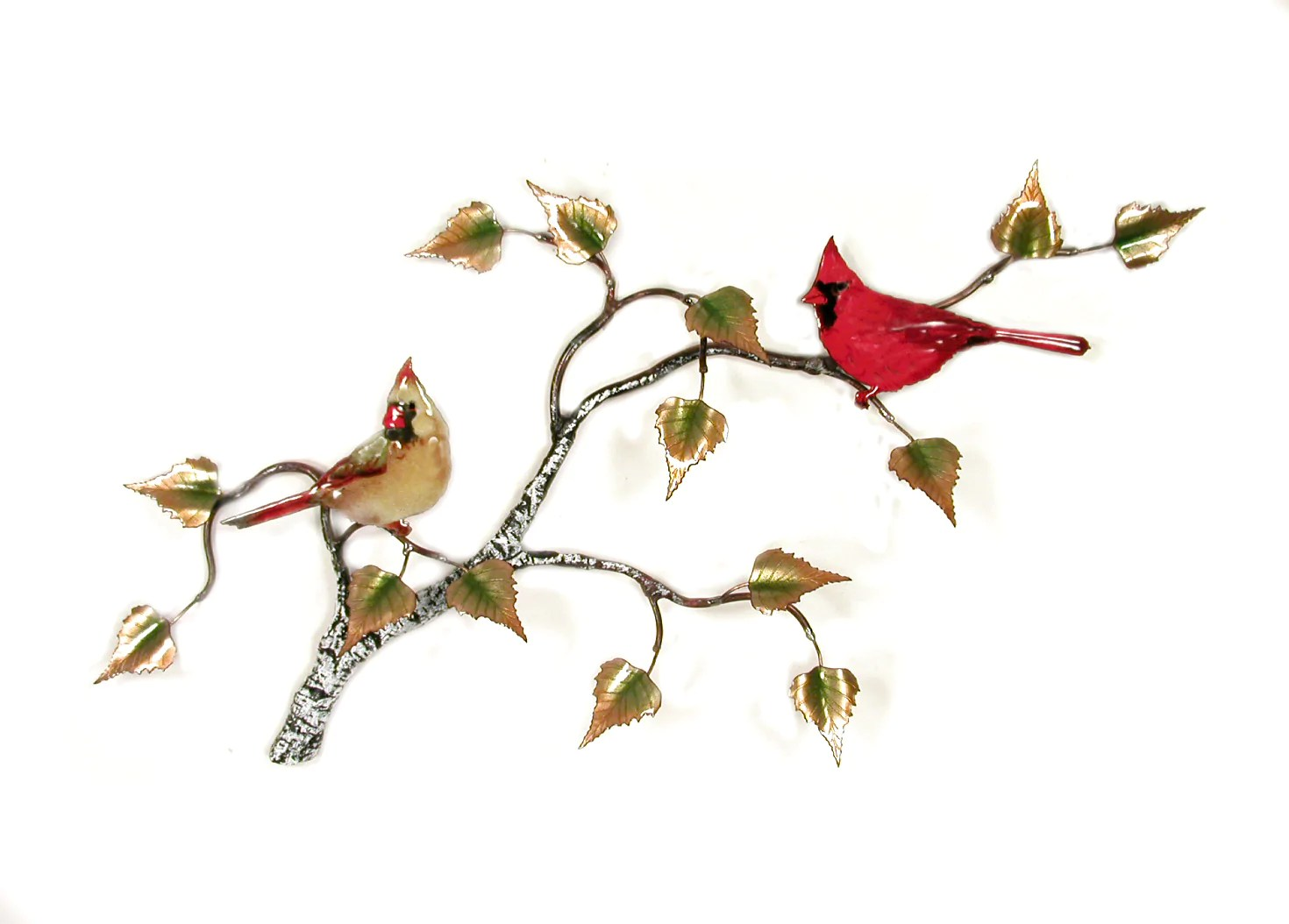 cardinals on birch branch wall art by bovano cheshire gallery