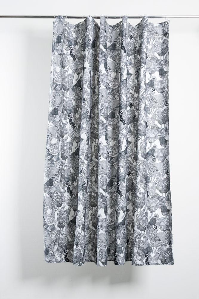 hot chicks artist cotton shower curtain waterproof by sophie probst