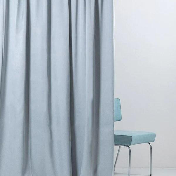blackout curtain col light blue matt