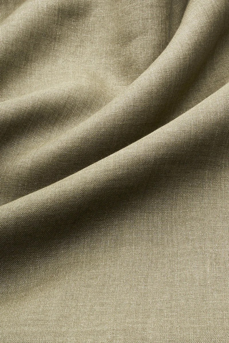 olive green linen curtains 300cm 118