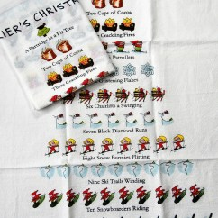 Kitchen Dish Towels Home Depot Cabinet Christmas Tea Skier S 12 Days A Love Of Nod To Nostalgia