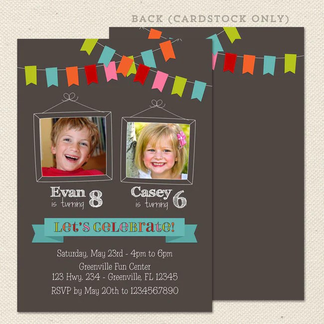 bunting joint birthday party