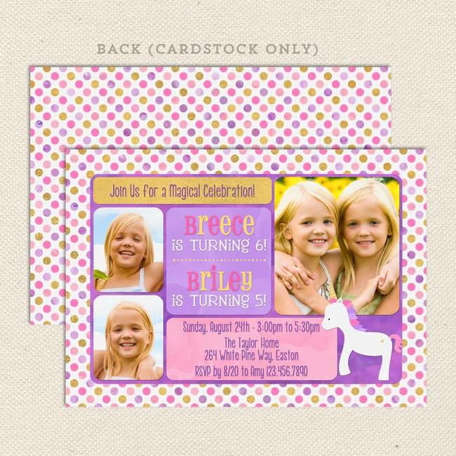 unicorn sibling birthday party