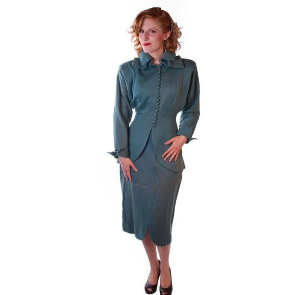 Vintage Lilli Ann Wool Suit Fantastic 1940S NWT  The