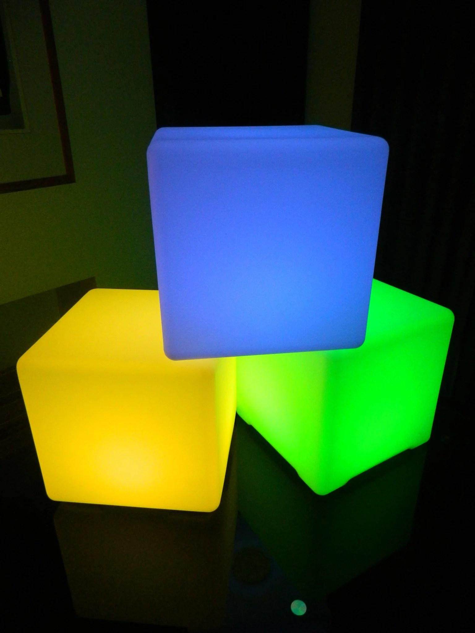 The Cube  illuminated LED light cube  Larala Lights NZ