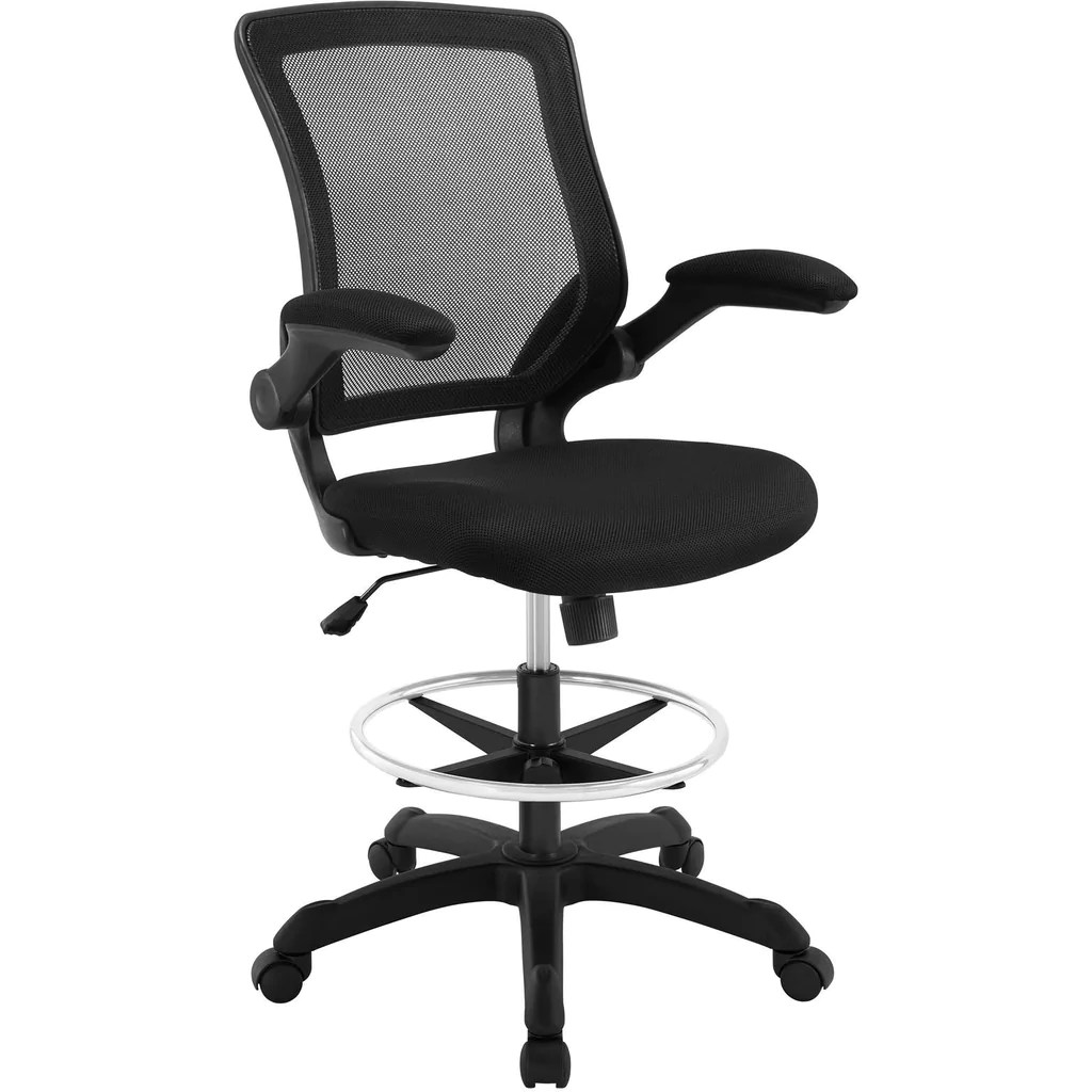 drafting chairs the eames chair modway modern veer stool adjustable computer