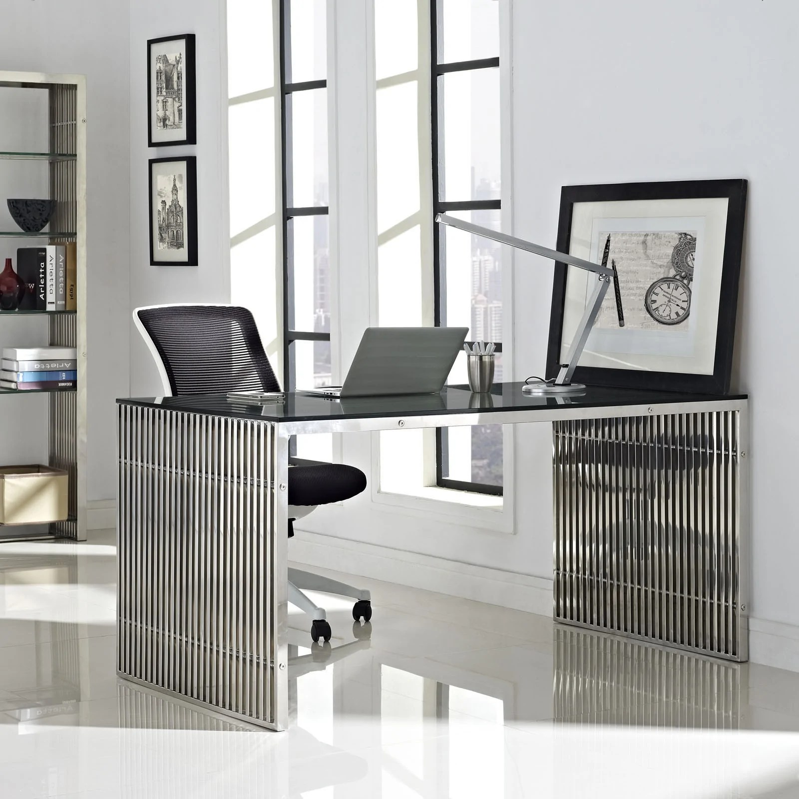 modway furniture gridiron stainless