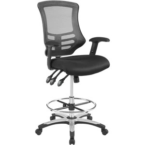 modern drafting chair frontgate lounge chairs modway furniture calibrate mesh eei 3043