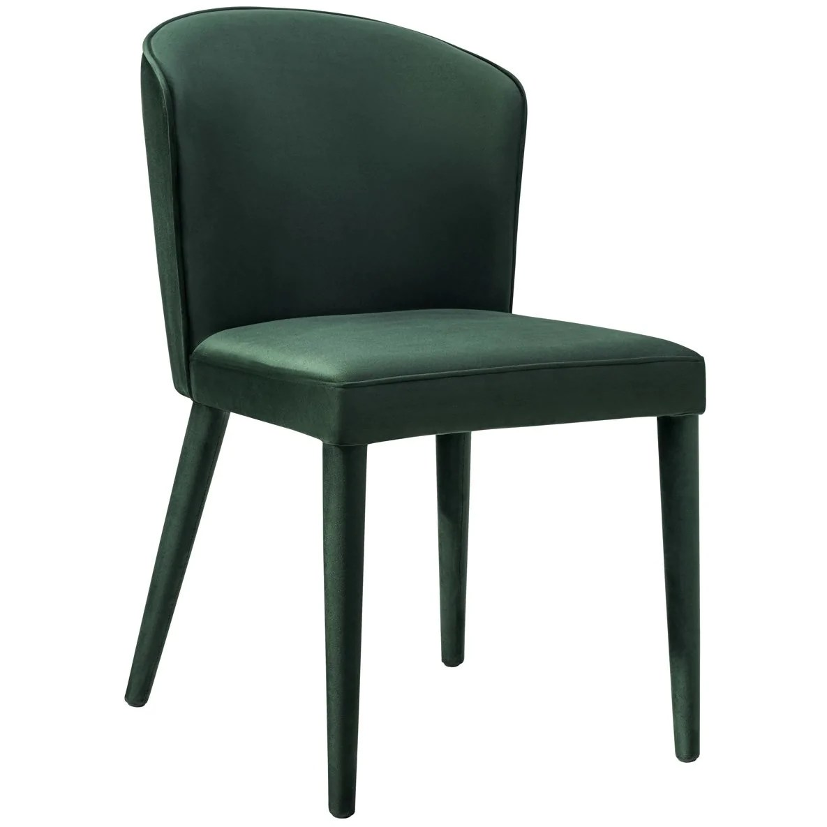 modern green dining chairs wedding chair covers and sashes for hire tov furniture metropolitan forest velvet d54 minimal