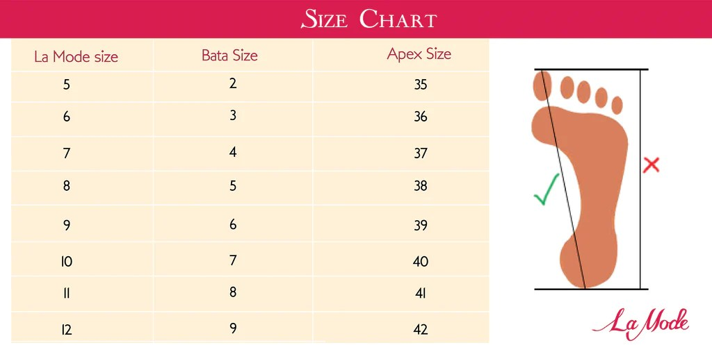 also size chart  la mode bd rh lamodebd