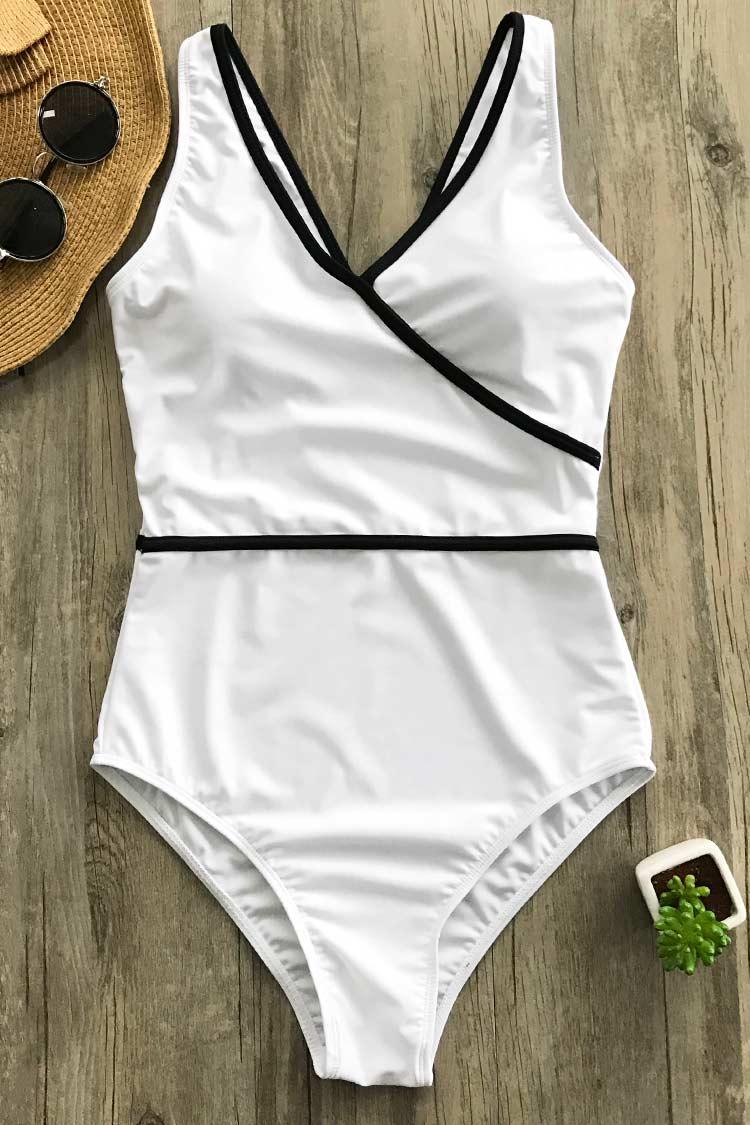 Pure Joy Binding One-piece Swimsuit