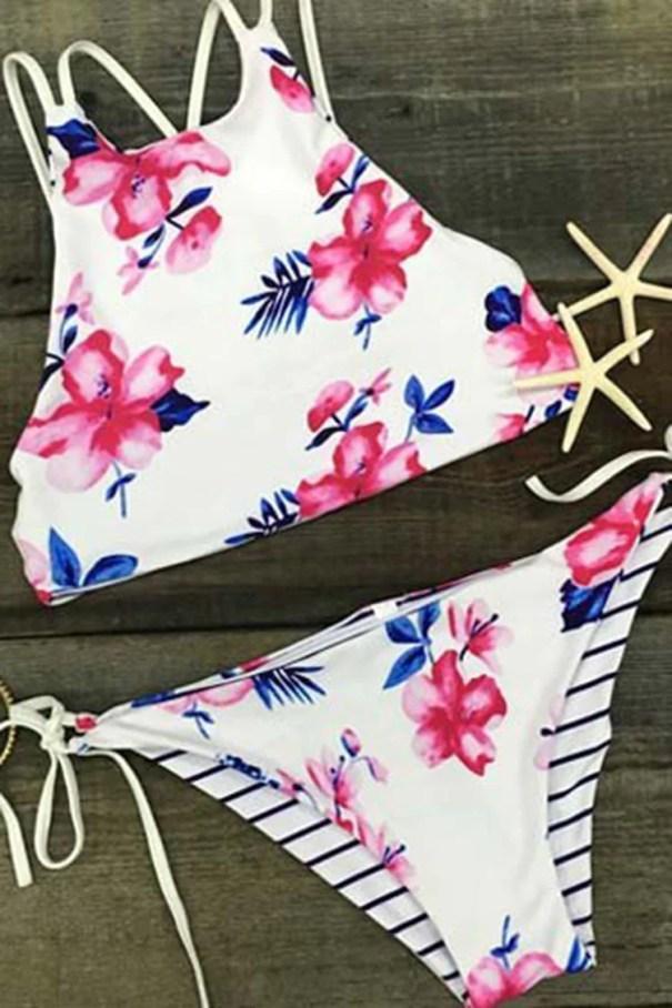 Cupshe Fallin For You Floral Bikini