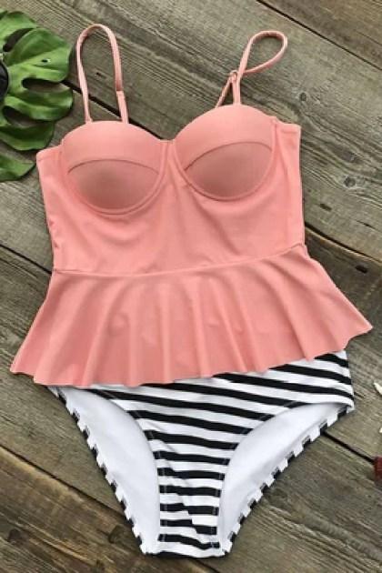 Cupshe Bottomless Sea Falbala Bikini Set