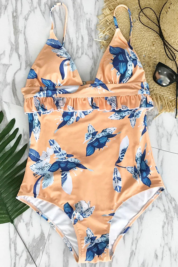 New Friends Floral One-piece Swimsuit