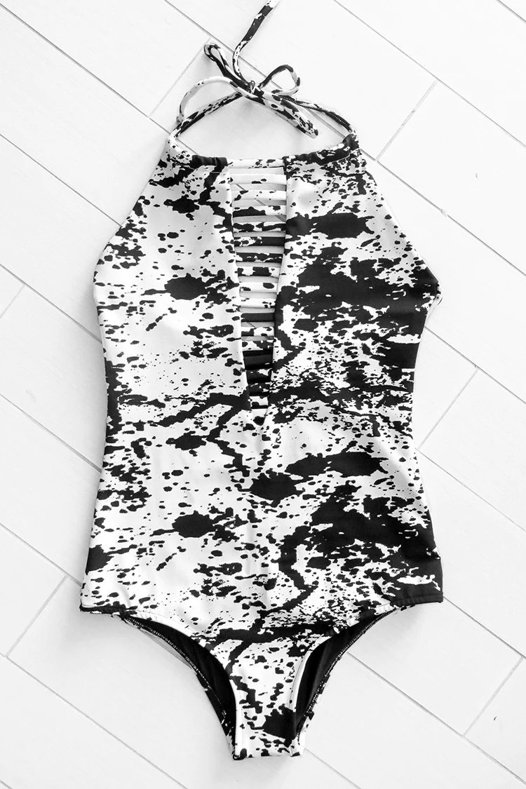 Stained Snow One-piece Swimsuit