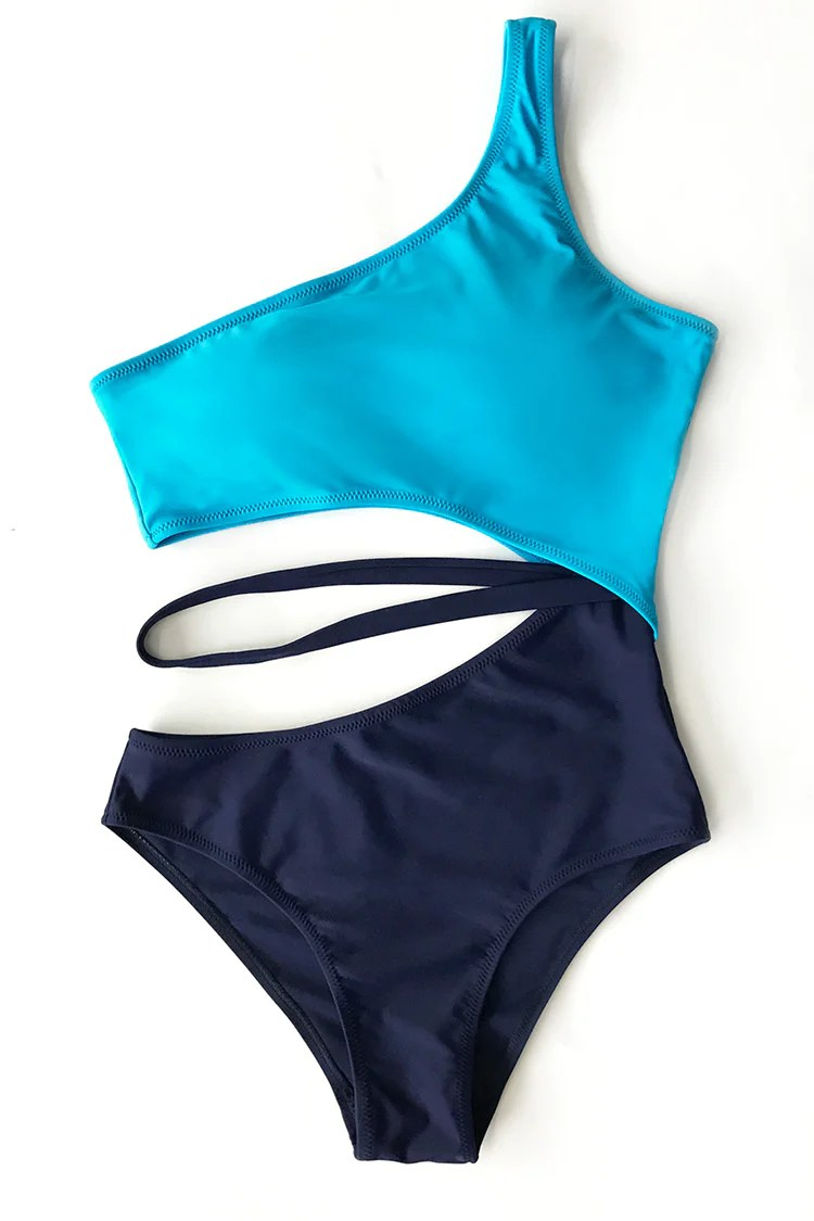 Sports Style Cutout One-piece Swimsuit