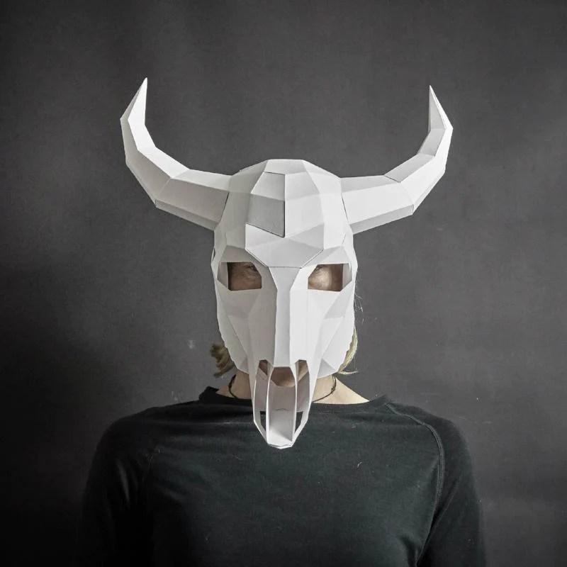 bull skull mask
