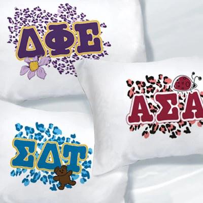 https www somethinggreek com products exclusive cheetah print sorority pillowcase