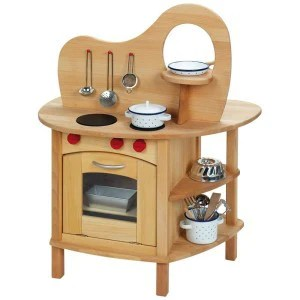 Two Way Wooden Play Kitchen by Gluckskafer  Dragonfly Toys