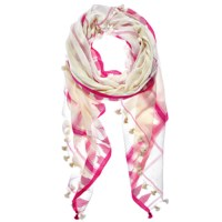 Shop Rani Pink Triangle Saatvik Scarf by Aish   LESOUQUE
