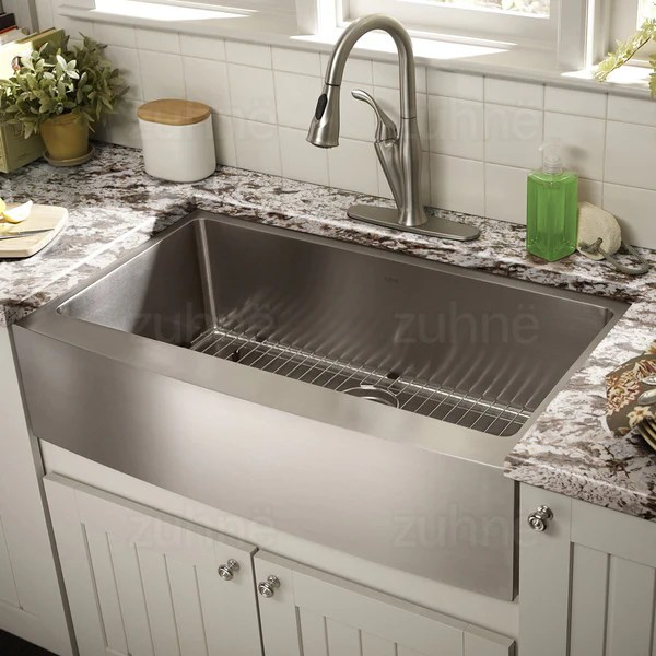 zuhne drop in utility laundry kitchen sink stainless steel 25 by 22 single bowl