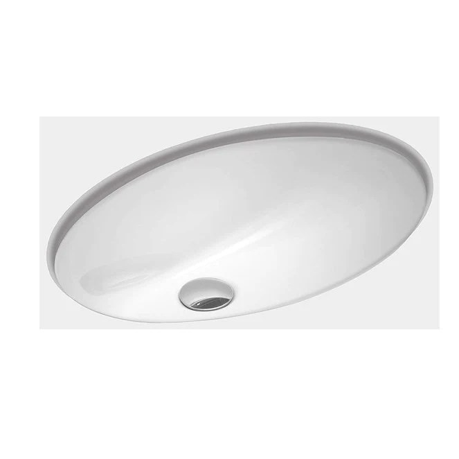 zuhne undermount bathroom sink with overflow white vitreous enamel oval 17 by 12 bowl