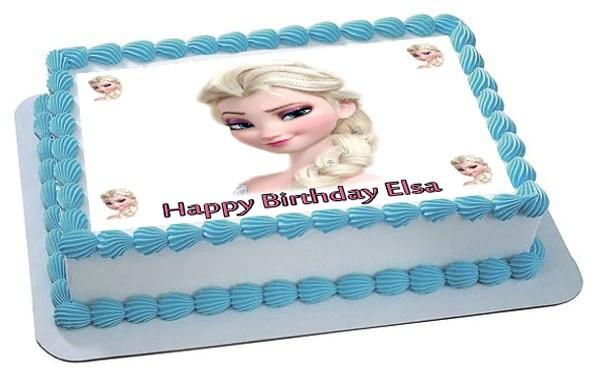 Frozen Elsa Face 2 Edible Cake Topper Cupcake Toppers Edible