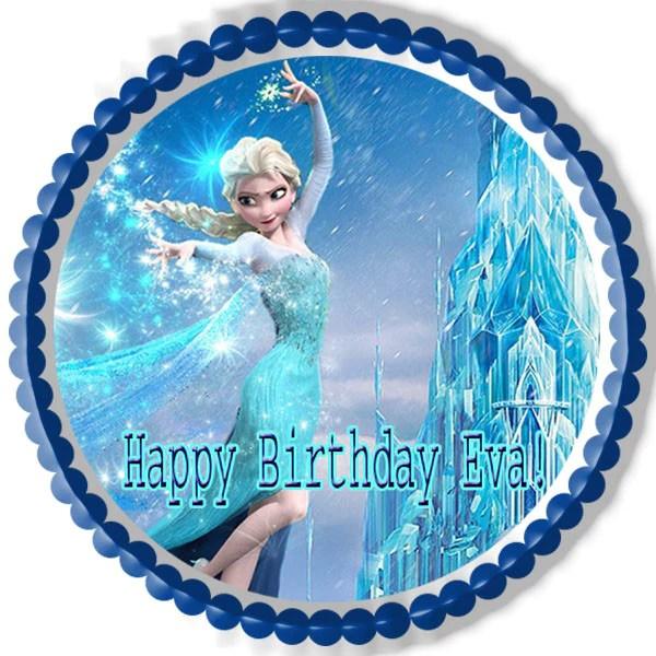 Frozen Elsa Edible Birthday Cake OR Cupcake Topper