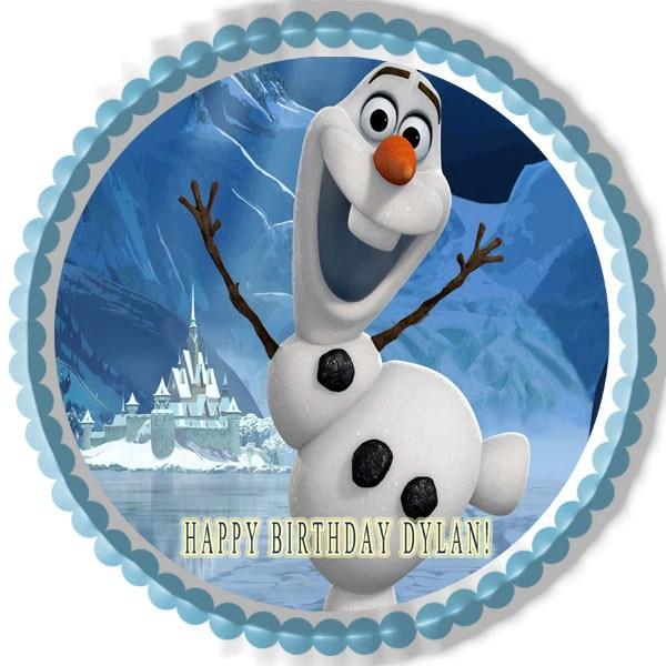Frozen Olaf Edible Birthday Cake Or Cupcake Topper