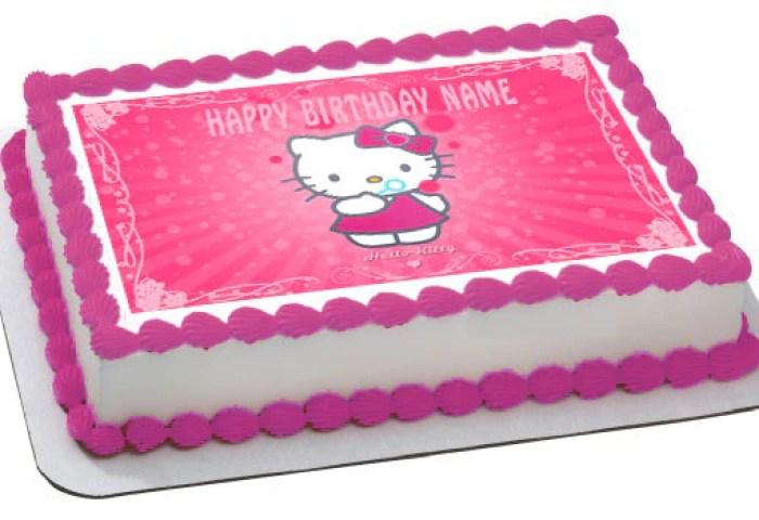 Hello Kitty Character 1 Birthday Cake Or Cupcake Topper Edible