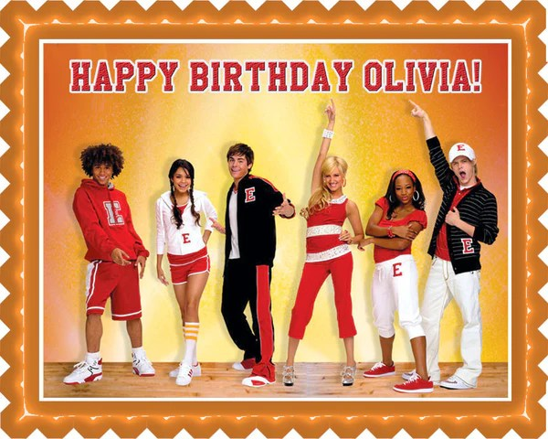 High School Musical Edible Birthday Cake – Edible Prints