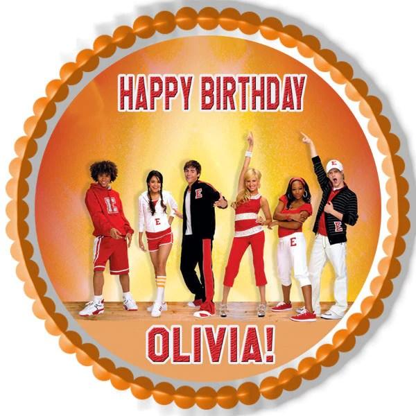 High School Musical Edible Birthday Cake Edible Prints