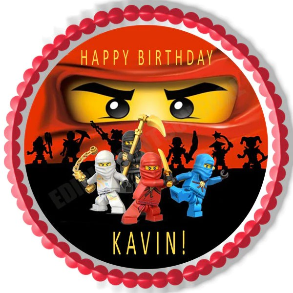 Lego Ninjago 2 Edible Birthday Cake Or Cupcake Topper