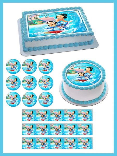 Lilo Amp Stitch Edible Birthday Cake Or Cupcake Topper