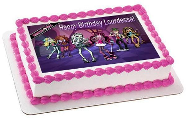 Monster High Edible Birthday Cake Or Cupcake Topper