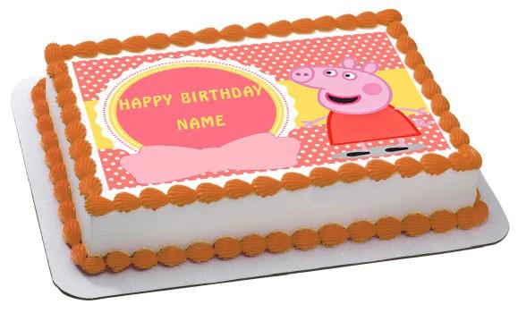 Peppa Pig 1 Edible Birthday Cake Topper Or Cupcake Topper Decor