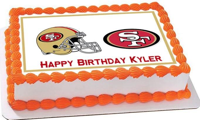 San Francisco 49ers Edible Cake Topper & Cupcake Toppers