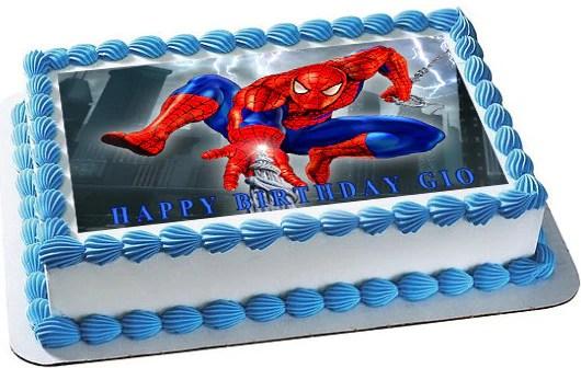 Spiderman 1 Edible Birthday Cake Or Cupcake Topper Edible Prints