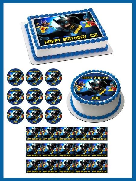 The Lego Batman Movie 2 Edible Cake Topper Amp Cupcake