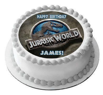 Jurassic World 1 Edible Birthday Cake Or Cupcake Topper