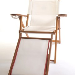 Reclining Beach Chair With Footrest Travel High For 2 Year Old Nauset Recliner Cape Cod Company