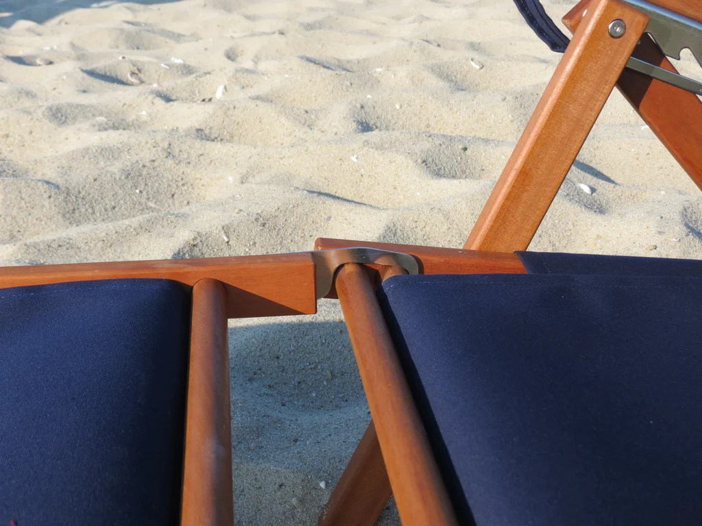 reclining beach chair with footrest eames molded plastic nauset recliner cape cod company