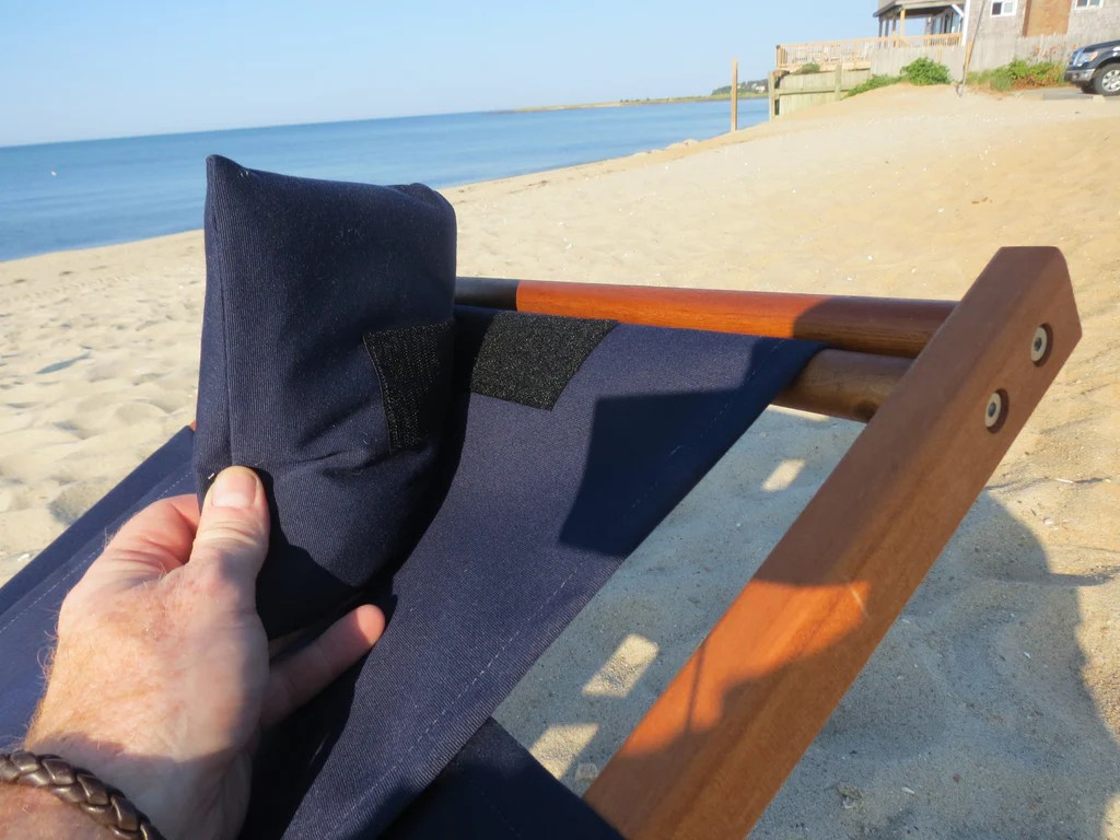 reclining beach chair with footrest kid nauset recliner cape cod company