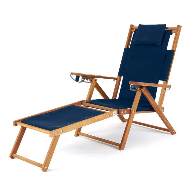 reclining beach chair with footrest pink velvet throne nauset recliner cape cod company